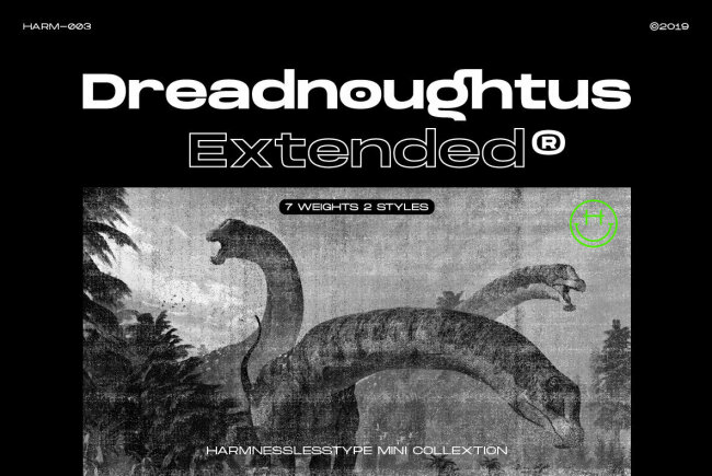 Dreadnoughtus Extended: A Strong Sans Serif With Wide Proportions