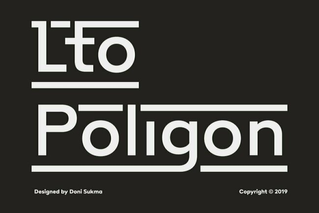Poligon: A New and Dynamic Sans Serif From Letter Omega