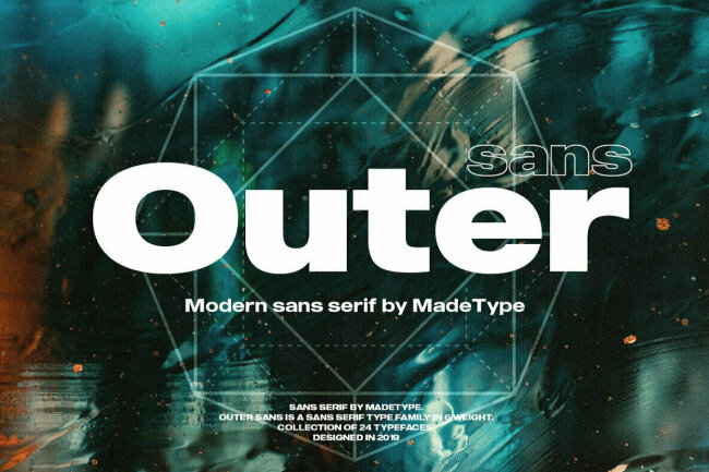 MADE Outer Sans: A Versatile Contemporary Sans Serif Family From MadeType