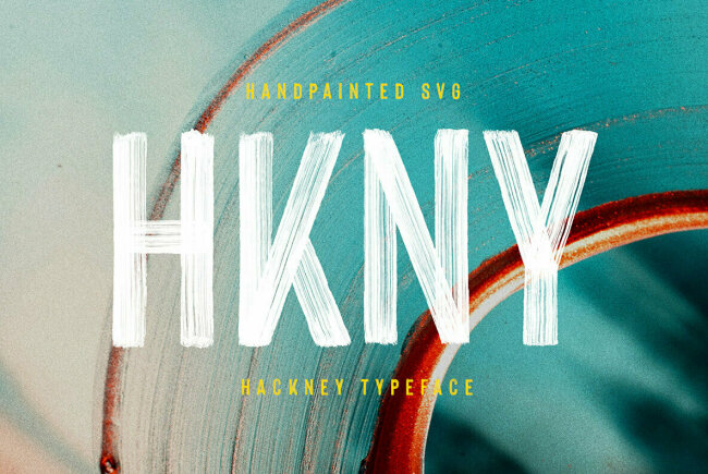 New From Ellen Luff: Hackney Hand-Painted SVG Font