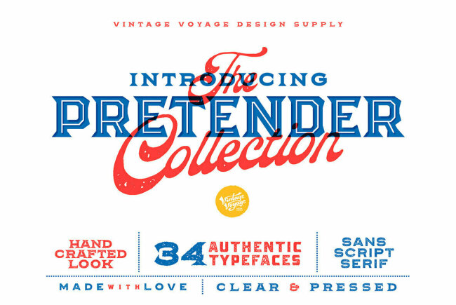 The Pretender Collection: Sans, Serifs, and Scripts That Revisit The Past