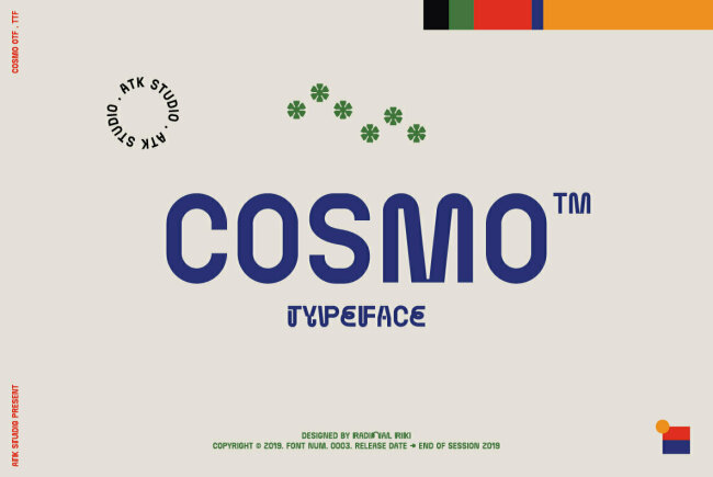 Cosmo: A Futuristic Display Font With Unexpected Twists and Turns