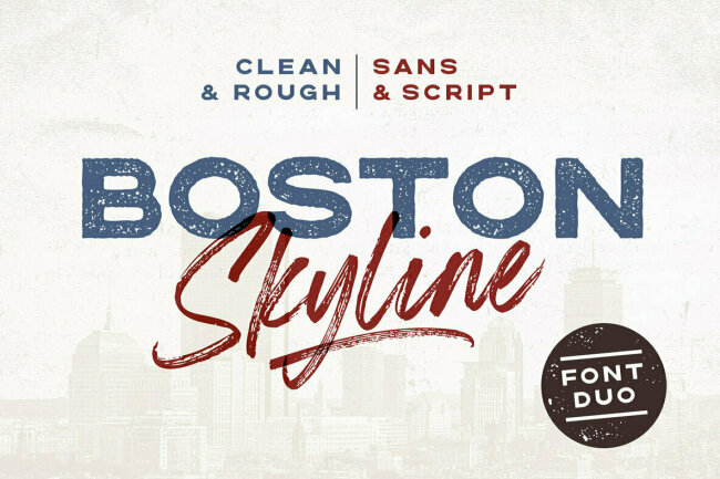 Boston Skyline: A New Sans and Script Duo From Set Sail Studios