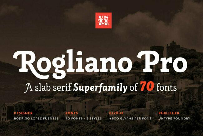 An Elegant Slab Serif From Untype Foundry: Rogliano Pro
