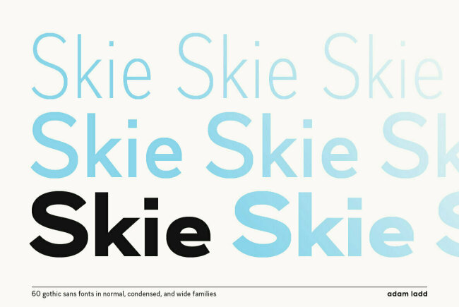 A Sans Serif Superfamily From Adam Ladd: Skie