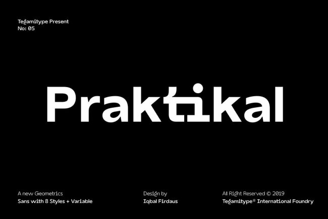 TG Praktikal: A New Contemporary Sans Serif From Tegami Type
