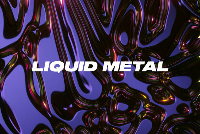 Liquid Metal Features Hyper-Realistic Molten Texture, New From Danny Jones
