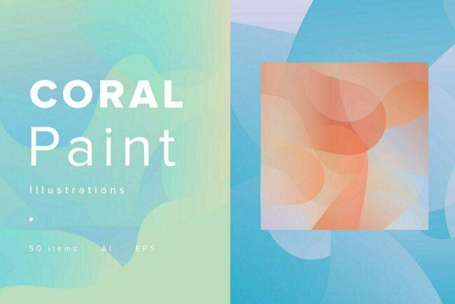 Coral Paint Explores the Ocean's Depths Through Contemporary Abstract Artwork