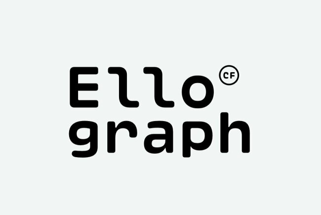 Ellograph CF: A Rounded Monospaced Font, New From Connary Fagen
