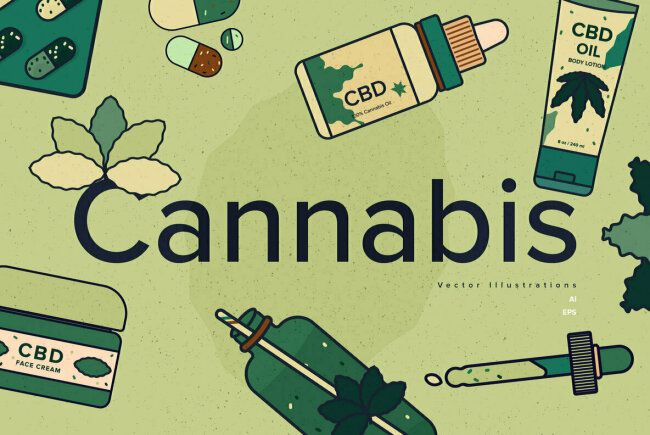 Cannabis: Illustrations for a Growing Marijuana Industry, New From YouWorkForThem Design Studio