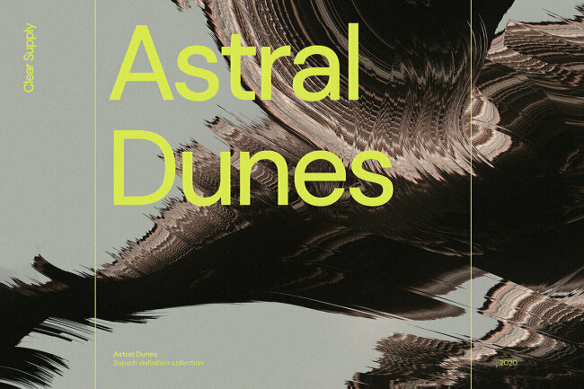 Astral Dunes: Abstract Composites in Supermassive High Resolution