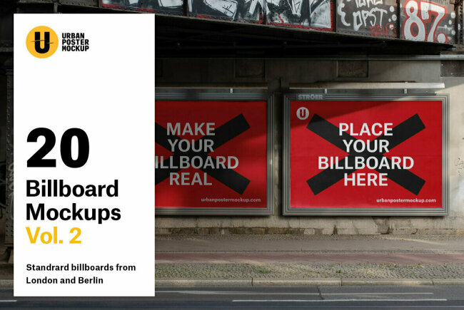 Billboard Mockup VOL.2 Makes It Easy To Create Outdoor Billboard Mockups