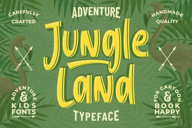 Jungle Land: A Brush Script That Explores The World With Childlike Wonder