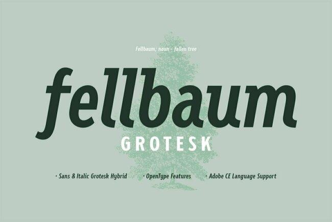 Fellbaum Grotesk: A Vintage Sans Serif With Subtle Cursive Elements