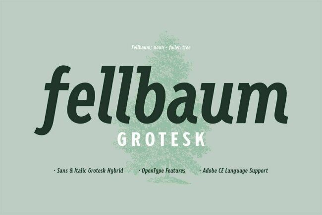 Fellbaum Grotesk: A Vintage Sans Serif With Subtle Cursive Elements