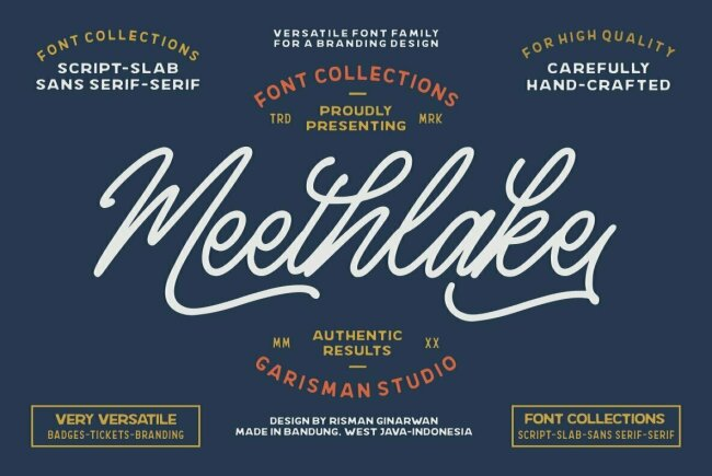 Meethlake: A Vintage-Inspired Branding Bundle From Risman Ginarwan