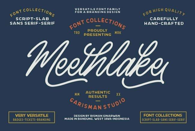 Meethlake: A Vintage-Inspired Branding Bundle From Risman Ginarwan