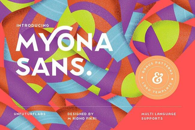Myona Sans Display, New From Unfutur Studio