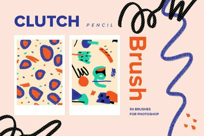 Clutch Pencil Brushes for Photoshop, New From YouWorkForThem