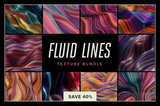 Fluid Lines Texture Bundle, New From Chroma Supply