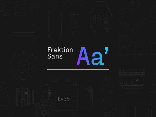 Font Feature of the Month: Fraktion Sans From Juri Zaech