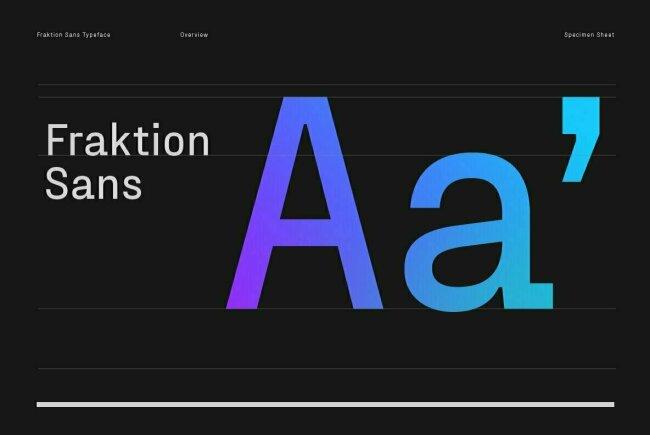 Newsletter Feature: Font Feature: Fraktion Sans by Juri Zaech