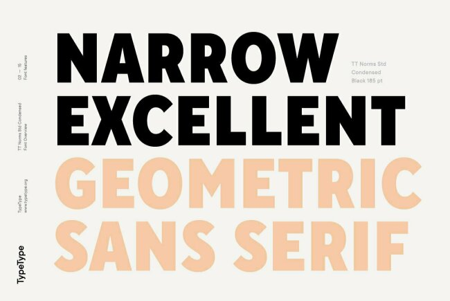 TT Norms Std Condensed, New From TypeType Foundry