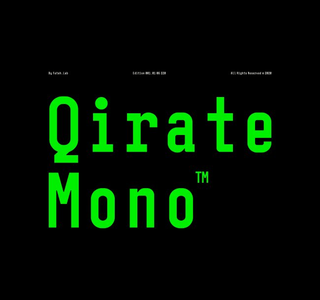 Font Feature of the Month: Qirate Mono From Wisnu Cipto Wibowo
