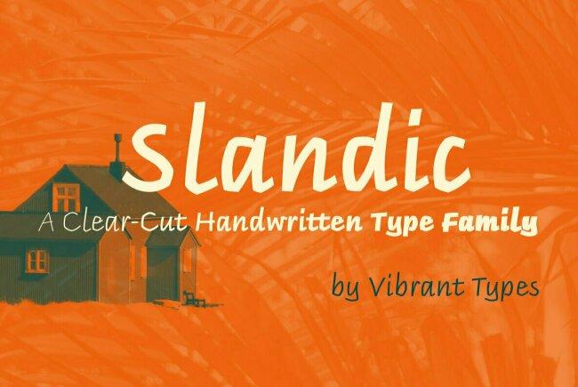 Slandic: An Italic Humanist Script Family From Vibrant Types