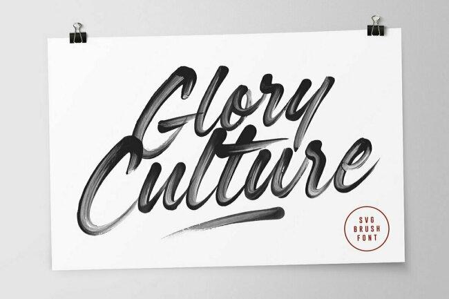 Glory Culture SVG Font, New From Set Sail Studios