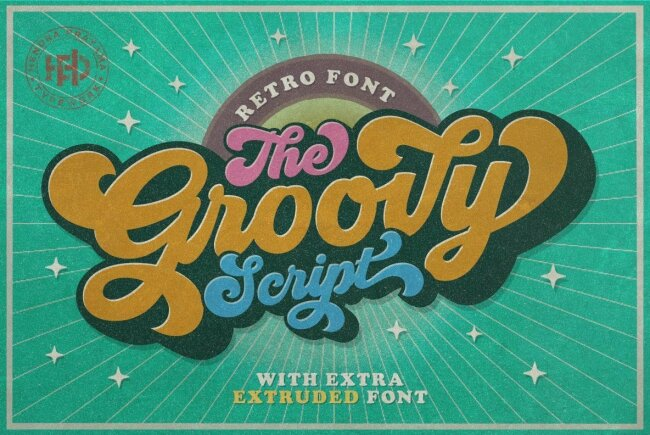 Groovy: A Thick and Curvy Retro Script From HP Typework