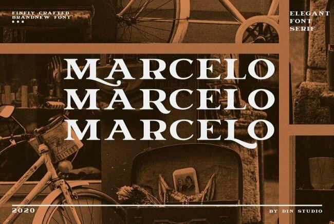 Marcelo: An Elegant Serif Display Type From Din Studio