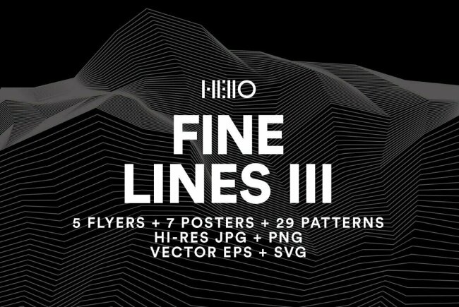 Create Stunning Technology-Driven Topographic Effects With Fine Lines III From Hello Mart