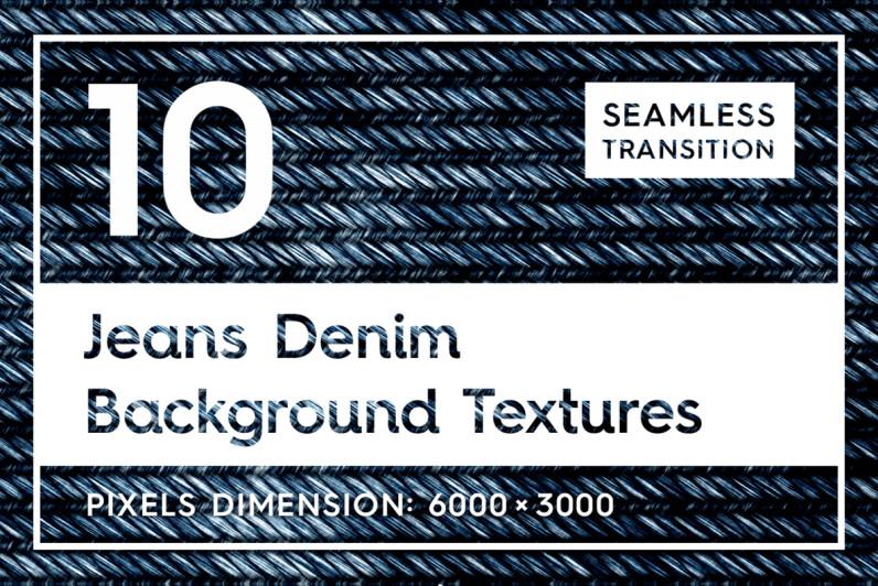 10 Jeans Denim Background Textures