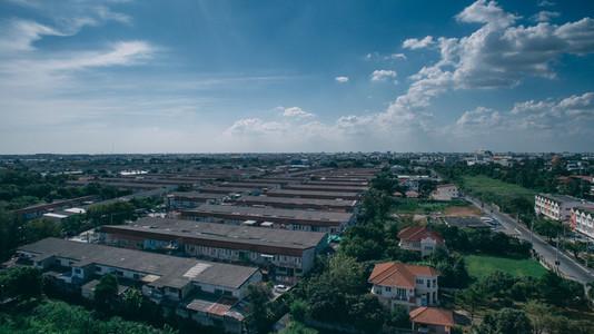 Bangkok Suburb Aerial