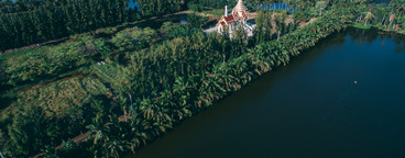Drone Photo of Thai Temple