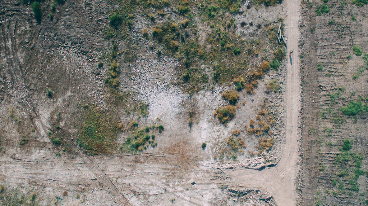 Drone Terrain Photo