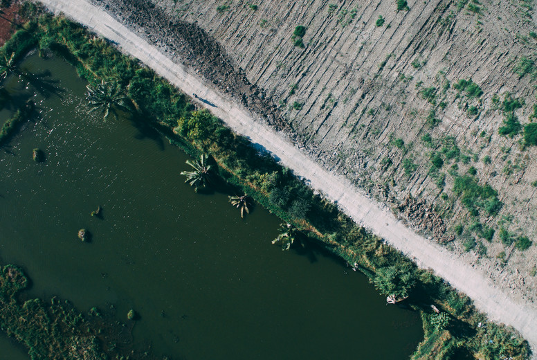 Drone Terrain   Water Photo