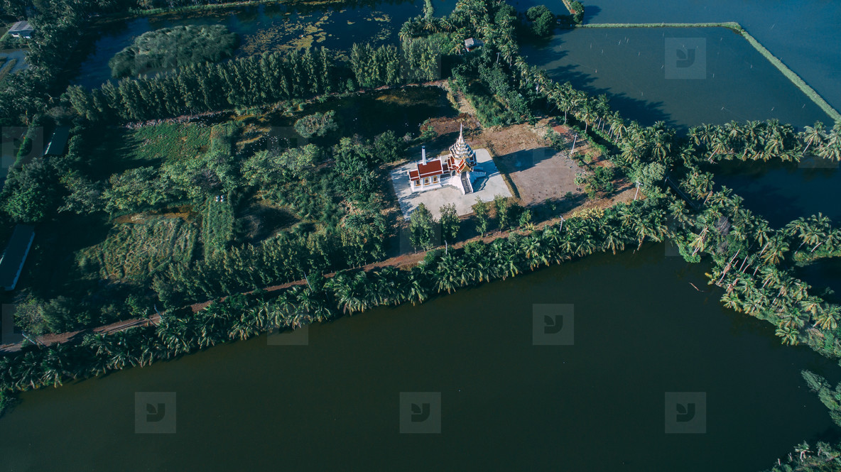 Drone Photo of Thai Temple 2