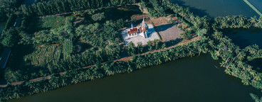 Drone Photo of Thai Temple 2