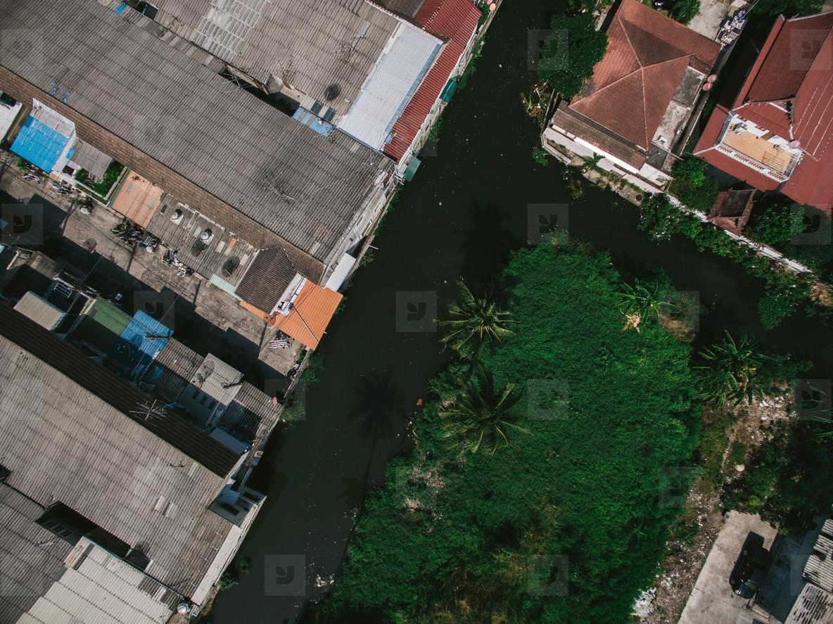 Bangkok Suburb via Drone