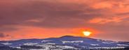 Burning winter landscape