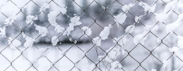 fence   chain   snow