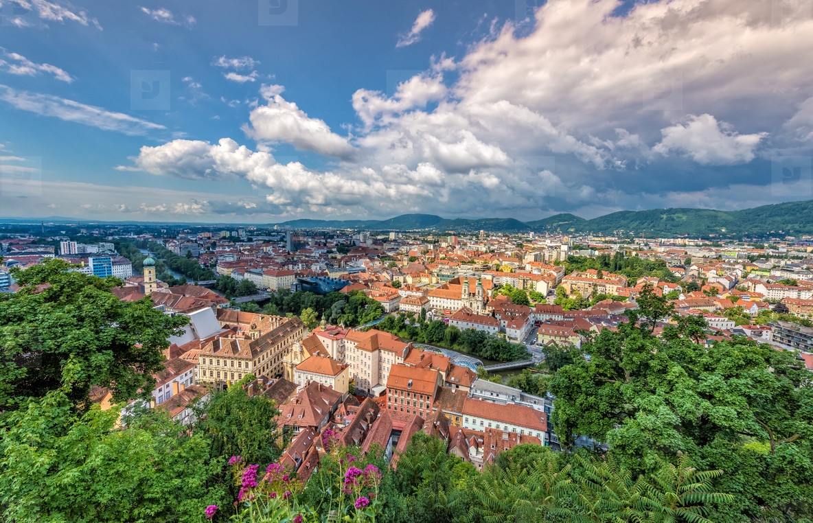 View over graz