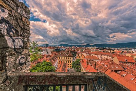 View to Graz   Styria   Austria