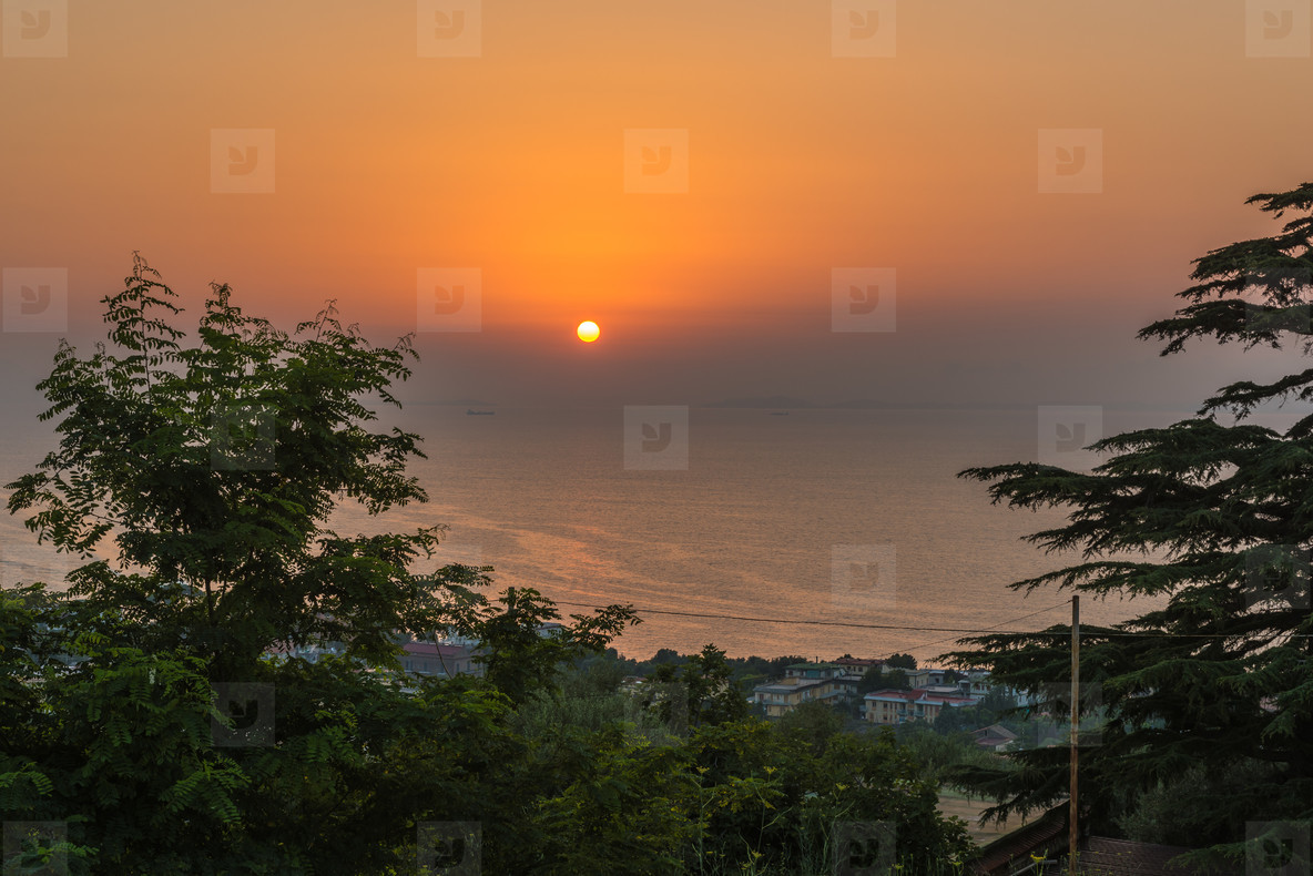 Sunset in south italy
