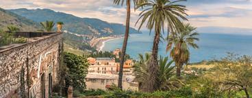 View over taormina