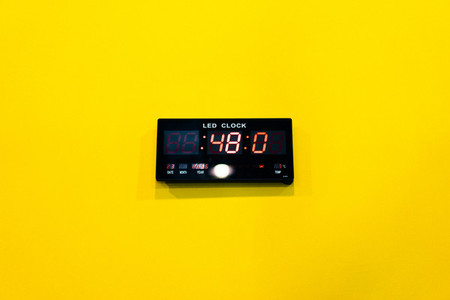 Yellow Wall Clock