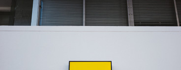 Modern Studio with Yellow Sign