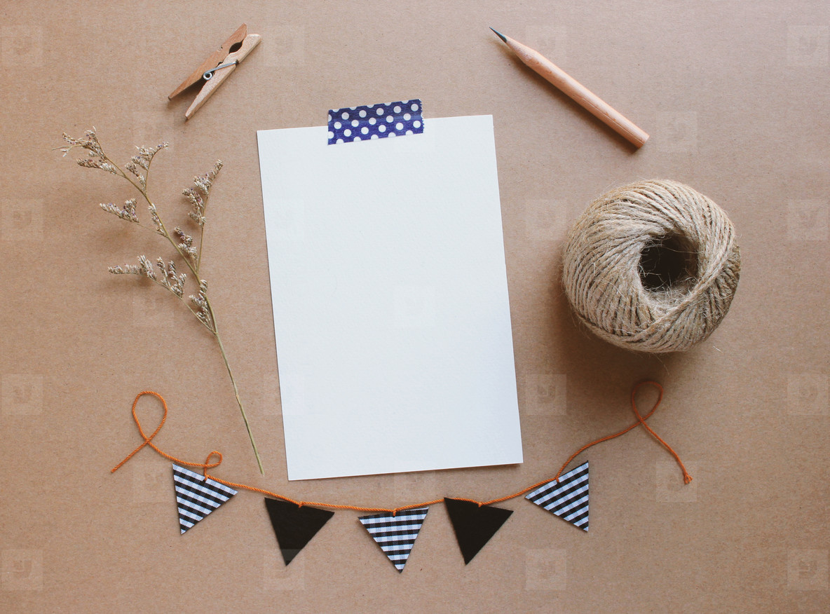 Blank greeting card craft